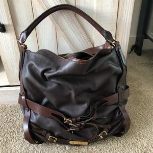 Authentic Burberry Bridle Gosford Leather Handbag